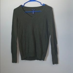 GAP MADE WITH CASHMERE olive sweater